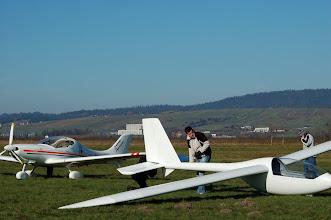 Photo: próby holu Axela za samolotem ultralekkim, listopad 2009