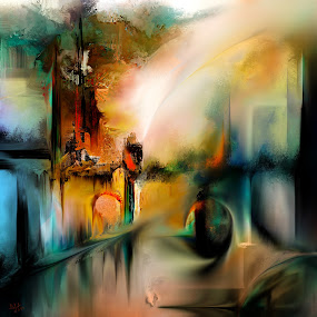 Off to Antares by Glen Sande - Painting All Painting ( modern, abstract, abstract art, fine art, home decor, antares, conceptual, glen sande,  )