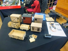 Photo: 004 Mike Johnson is a SWOONS member and also proprietor of Jurassic Models, producing some superb 16mm and 7/8inch scale wooden laser cut kits . The other trader present on the day was John Sutton who brought his bookstall all the way down from Bromsgrove .