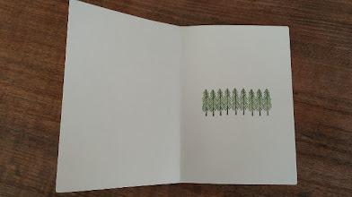Photo: 二つ折りカード 7 (winter forest)〈中〉