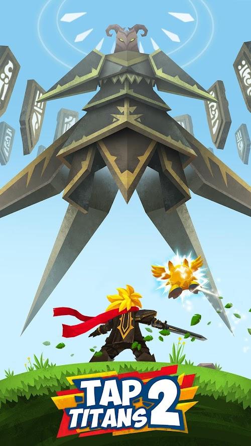 Screenshot 1 Tap Titans 2 2.11.2 APK MOD