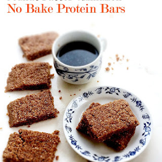 Peanut Butter Cinnamon No Bake Protein Bars.