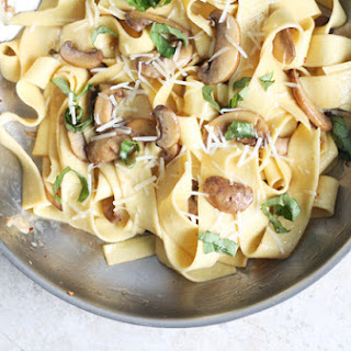 Mushroom, Lemon & Garlic Pappardelle Pasta