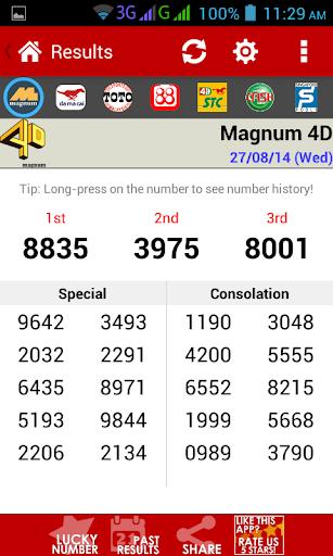 Live 4D Results ! (MY & SG) 7.5 screenshots 2
