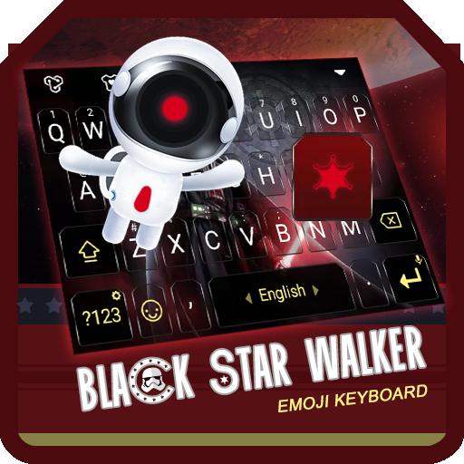 Black Star Walker Theme&Emoji Keyboard