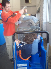"""Photo: We were lucky to get a cart with """"big boy"""" seats, the boys always love these carts, Mama does not, they are hard to steer."""