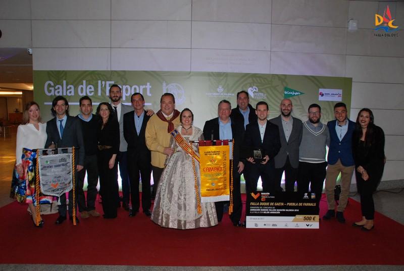 Recogimos los premios en la Gala Fallera del Deporte
