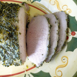 Holiday Pork Loin with Herb Paste.