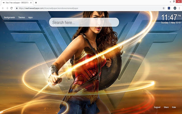 Wonder Woman Wallpaper HD New Tab Themes
