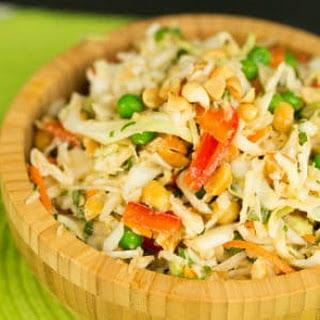 Thai Peanut Cabbage Slaw Recipe