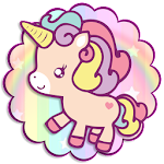 Cute baby Unicorn Mobile Theme Icon