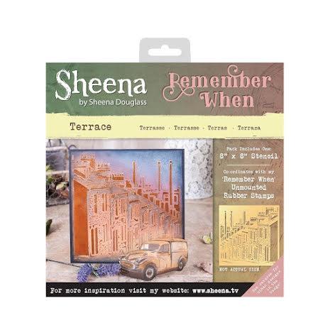 Sheena Douglass Remember When 8X8 Stencil - Terrace UTGÅENDE