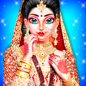 Royal North Indian Wedding Girl Dressup and Makeup icon