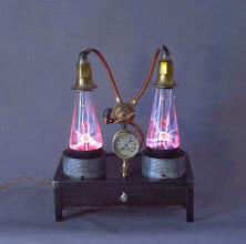 Photo: dual plasma lamp
