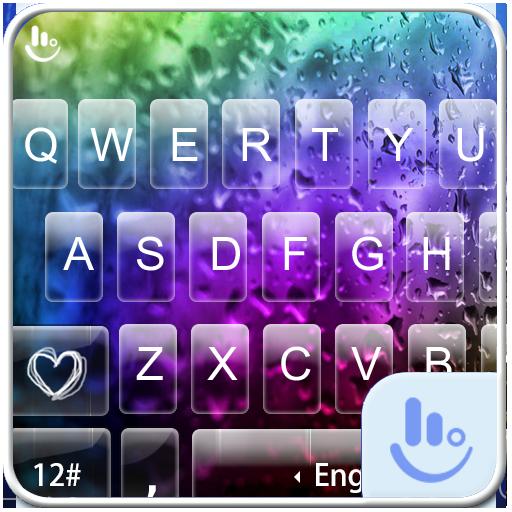Colorful Glass Water Keyboard