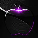 Crystal Black Apple Launcher Theme icon