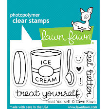 Lawn Fawn Clear Stamps 3X2 - Treat Yourself