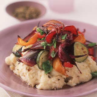 Oven Roasted Vegetables and Hazelnut Mashed Potatoes