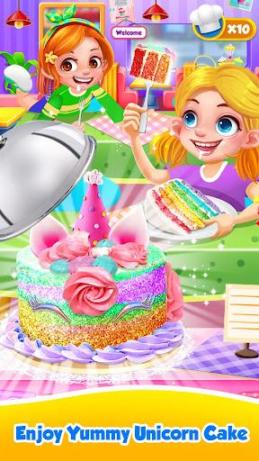 Unicorn Food - Sweet Rainbow Cake Desserts Bakery screenshots 1