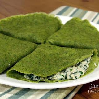 Shamrock Spinach Crepes.