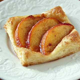 Puff Pastry Peach Tartlets.