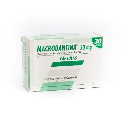 Macrocristrales De Nitrofurantoina Macrodantina 50 Mg X 30 Cápsulas