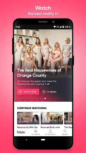 hayu - watch & download reality TV shows on demand 2.0.6 screenshots 1