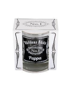 """Whiskeyglas """"Världens bästa pappa"""""""