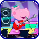 Kids music party: Hippo Super star icon