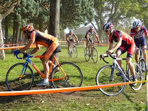 Photo: Début de course en senior pour Benjamin et Florian.