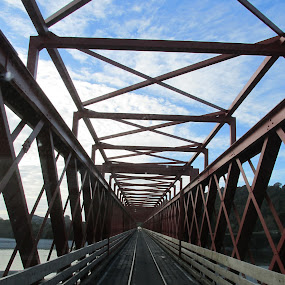 by Kim Pauly - Novices Only Landscapes ( abstraction., still life, road trip, newzealand, bridge, steel, construction,  )