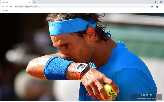 Rafael Nadal New Tab & Wallpapers Collection