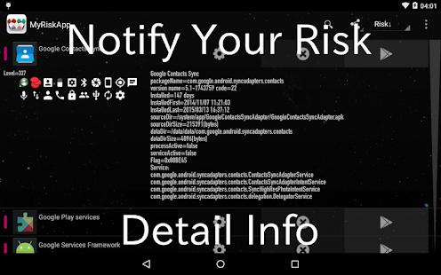 My Risk App : Risky App List - náhled