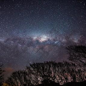 Galaxy from Ohariu by Graeme Carlisle - Landscapes Starscapes ( stars, universe, starscape, nightscape, galaxy )