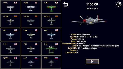 Code Triche Night Fighter: WW2 Dogfight APK MOD (Astuce) screenshots 2