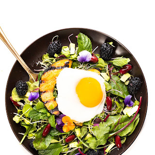 Breakfast egg with Mixed Green Salad