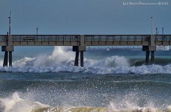 Photo: The pier break