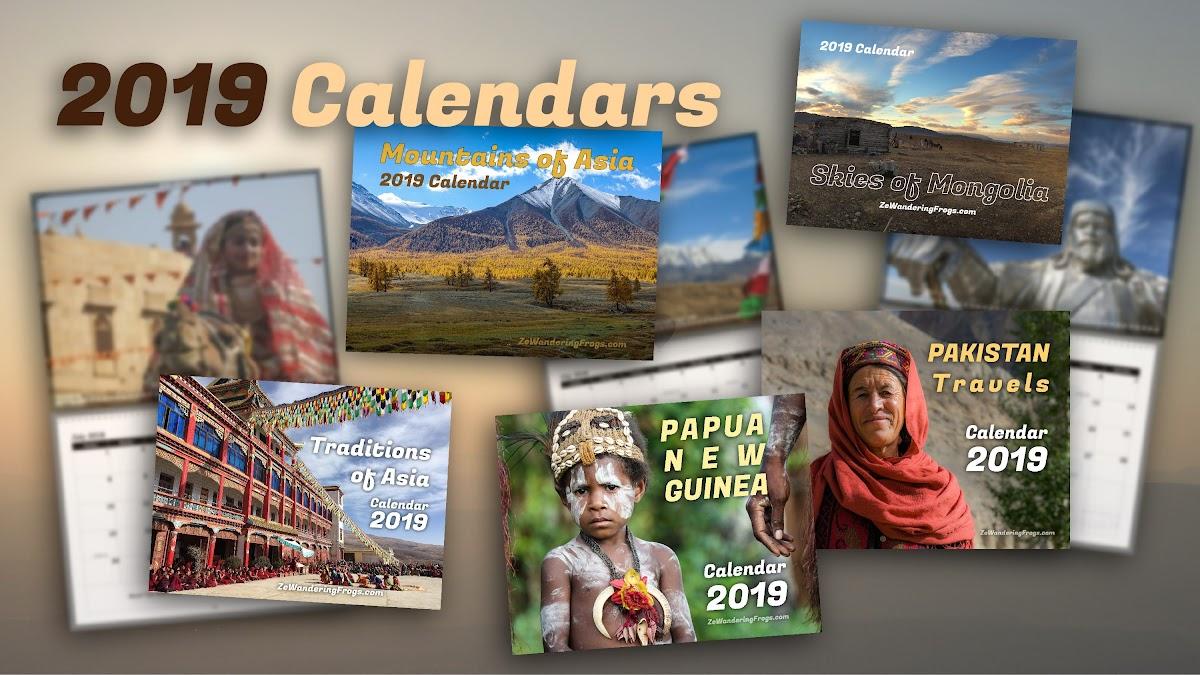 2019 Unique Calendars Unique Holiday Gift Ideas: Adventure Travel Photo Calendars 2019