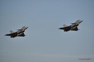 Photo: décollage en formation des Rafale M