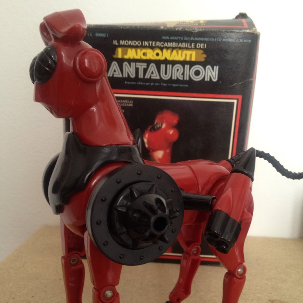Micronauti: cavallo Lantaurion con scatola
