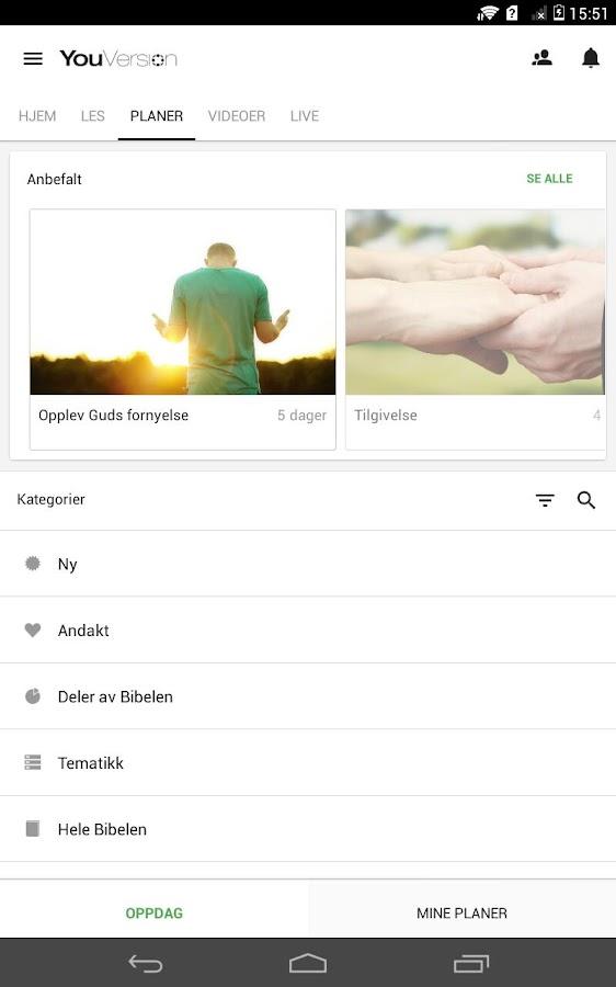 Bibel-skjermdump