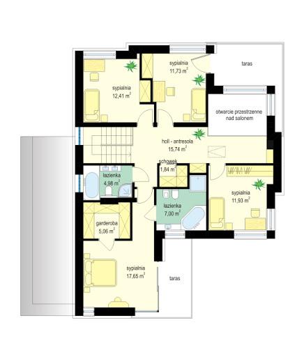 Riwiera 4 - Rzut piętra