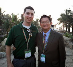 Photo: Macleod with Dr. Sampan Silapanad, vice president for Western Digital, at the WACE conference.