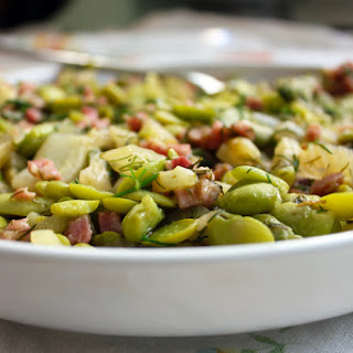 Fava Beans With Fennel and Pancetta