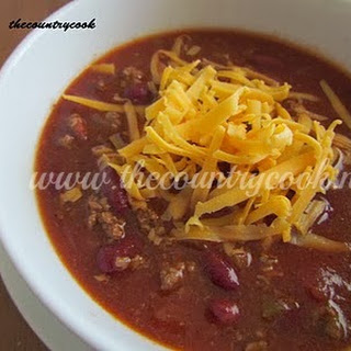 Slow Cooker Chili & Sweet Cornbread.