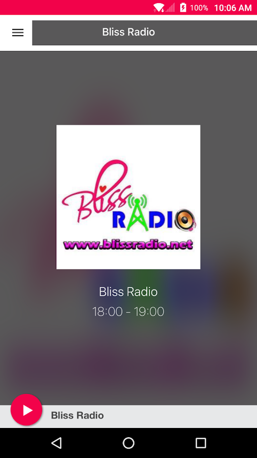 Bliss Radio- screenshot