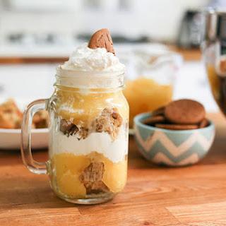 Pumpkin Pudding Trifle in Mason Jar