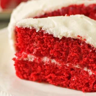 Red Velvet Cake Gluten Free Dairy Free.