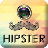Hipster stickers for photos