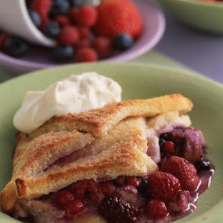 Bread and Butter Pudding with Summer Fruit.